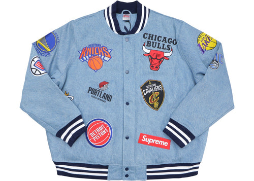 Supreme Nike/NBA Teams Warm-Up Jacket - Denim