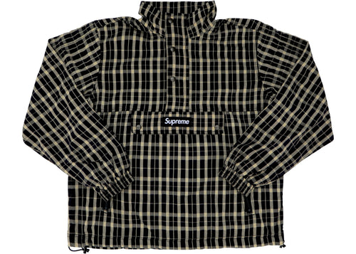 Supreme Nylon Plaid Pullover - Tan