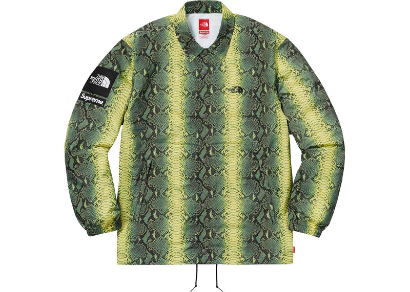 Supreme X TNF Snakeskin Taped Seam Coaches Jacket - Green
