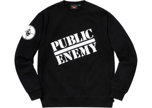 Supreme Undercover X Public Enemy Blow Your Mind Crewneck - Black