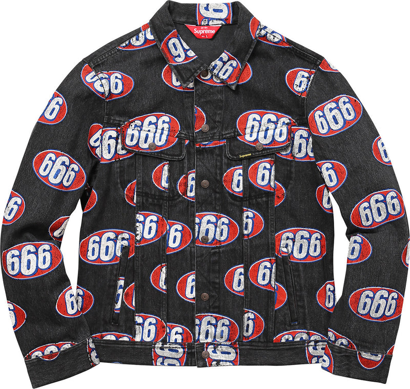 Supreme 666 Denim Jacket - Black