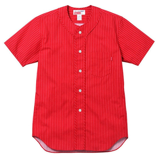 Supreme CDG Baseball Shirt - Red - CopvsDrop