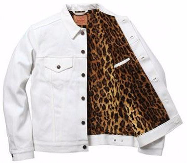 Supreme Levi Fur Denim Jacket - White - CopvsDrop