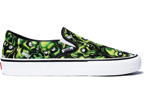 Supreme x Vans Skull Pile Slip-on Pro - Green-*