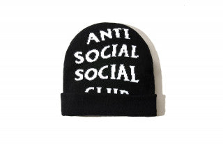 Anti Social Social Club Beanie - Black-*