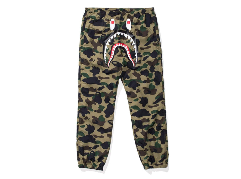 Bape Shark Track Pants - Green Camo