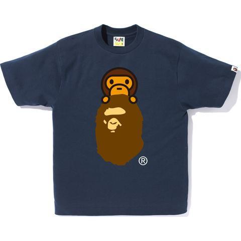 Bape Baby Milo on General Ape Head Tee Ladies - Navy