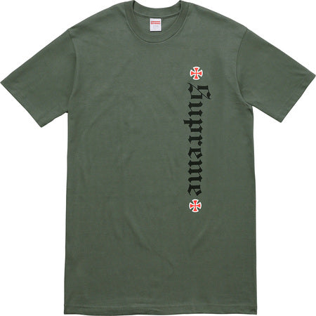 Supreme Independent Tee - Olive -*