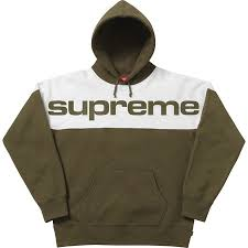 Supreme Blocked Hooded Sweatshirt - Dark Green
