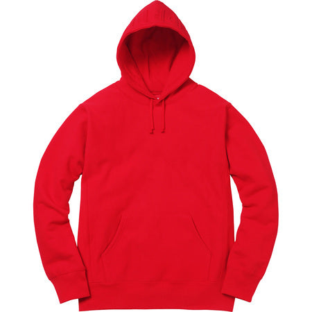 supreme embossed logo hooded sweatshirt red copvsdrop