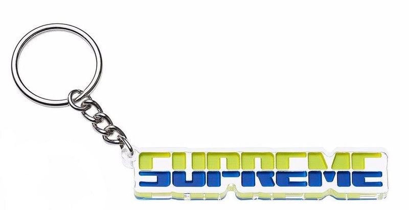 Supreme Embossed Keychain - Blue / Green -*