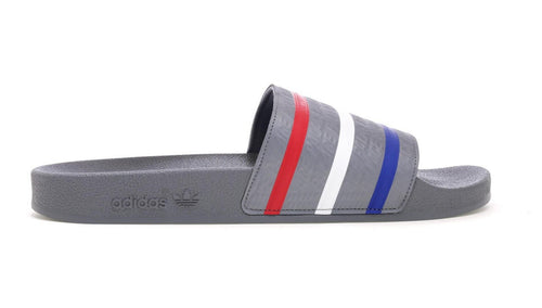 Palace Adidas Adilette - Grey W/ Red/White/Blue