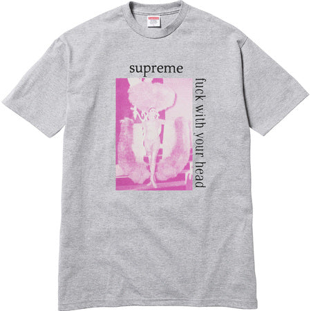 Supreme Fuck with Your Head Tee - Grey - CopvsDrop
