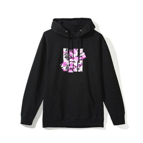 Anti Social Social Club X Undefeated Hoodie - Black W/ Pink Camo