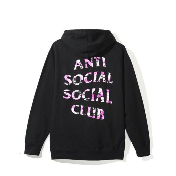 4ca01db096d Anti Social Social Club X Undefeated Hoodie - Black W Pink Camo ...