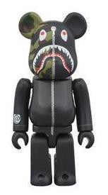 Bape Bear Brick 400% - Black - CopvsDrop