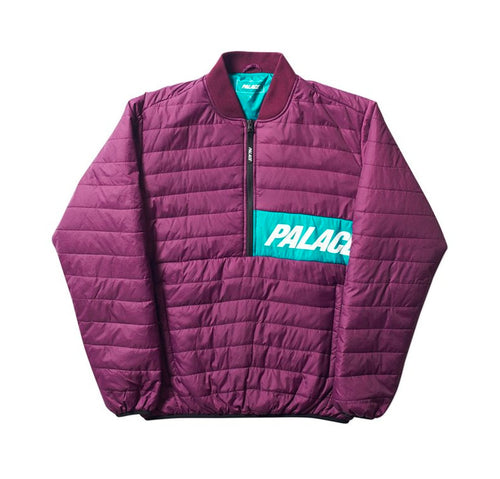 Palace Half Zip Packer - Blackberry / Teal-*