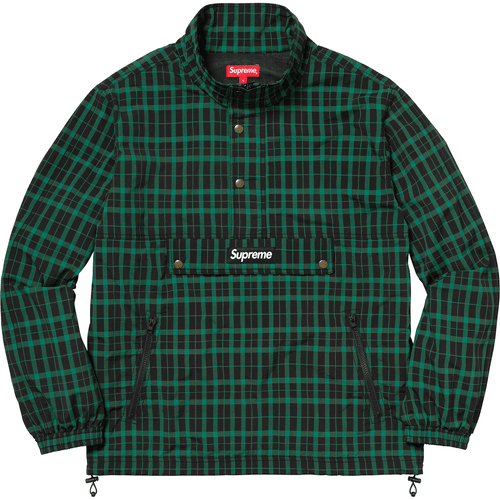 Supreme Nylon Plaid Pullover - Green