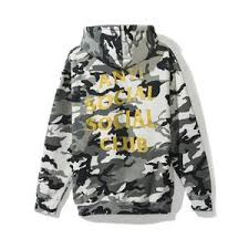 Anti Social Social Club Hoodie - Snow Camo W/ Gold