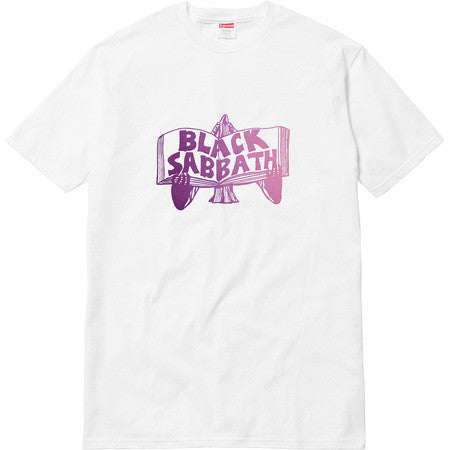 Supreme Black Sabbath Tome Tee - White - CopvsDrop