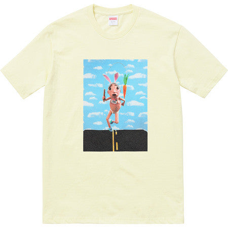 Supreme Mike Hill Runner Tee - Pale Yellow