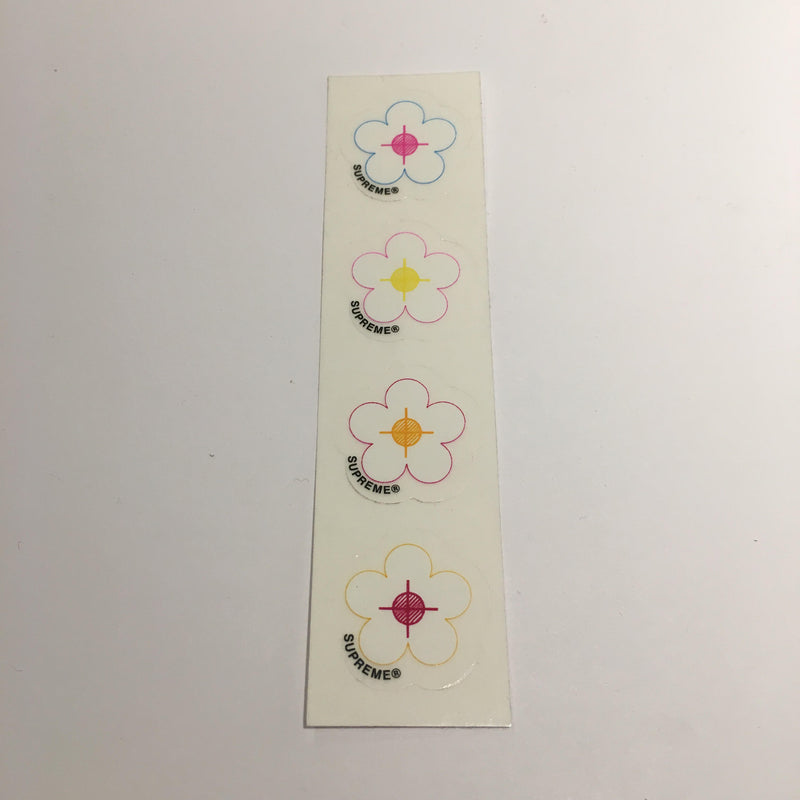 Supreme Mini Bulleye Flower Sticker - CopvsDrop