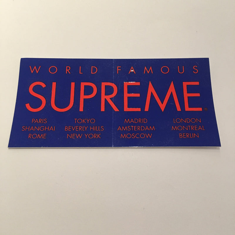 Supreme International Sticker - Blue - CopvsDrop
