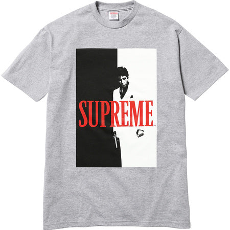 Supreme Scarface Split Tee - Grey
