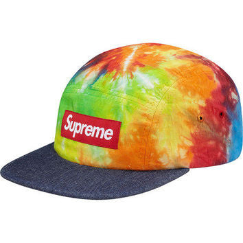 Supreme Tye Die Camp Cap - Green / Multi - CopvsDrop