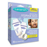 Lansinoh Breastmilk Storage Bags - Ideal for Storing & Freezing Breastmilk, 25 Count