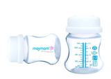 Maymom Wide-mouth Milk Storage Collection Bottle with SureSeal Sealing Disk; Can Replace Spectra S1 S2 Bottles;, 4.7oz ; 6 pk