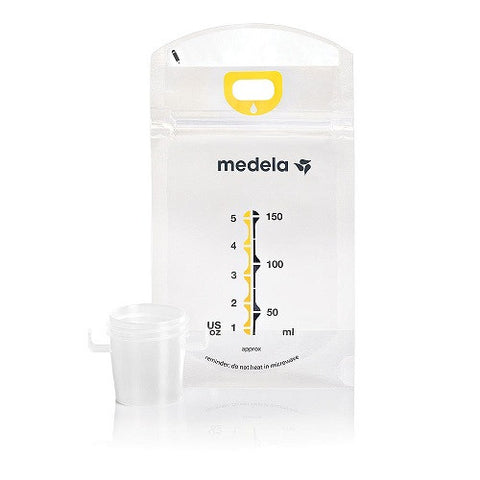 Medela Pump & Save™ Breastmilk Bags with Easy-Connect Adapter 50ct
