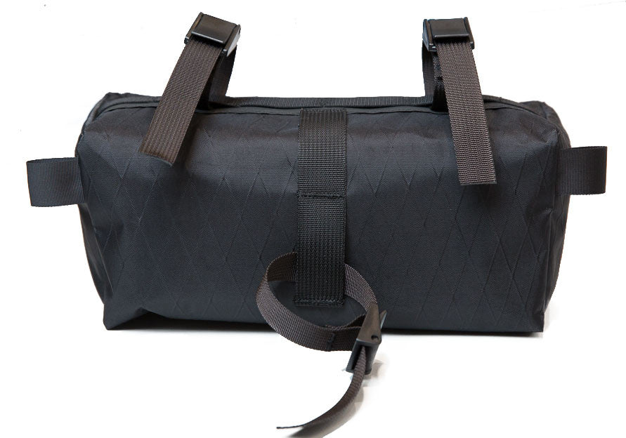 Backside view of Scafell Pike Co. Handlebar bag sailcloth