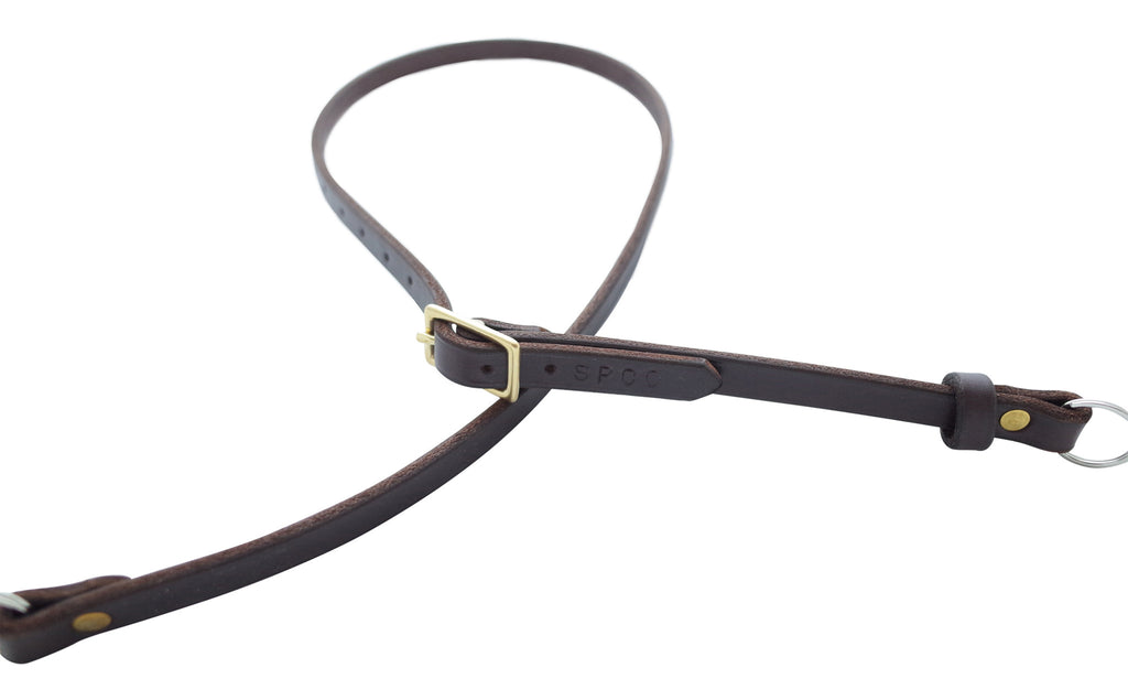 Scafell Pike Co. Amish Leather Camera Strap Brass Fixtures