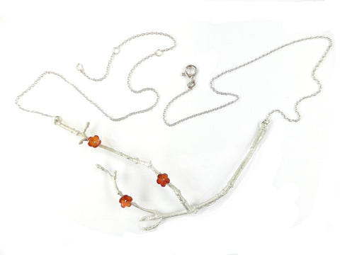 Collier Rama mit Carneol- Sterlingsilber