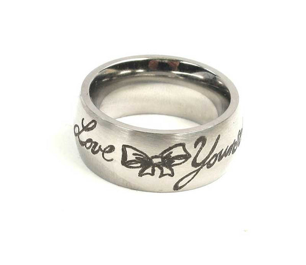Ring Love Yourself - Edelstahl