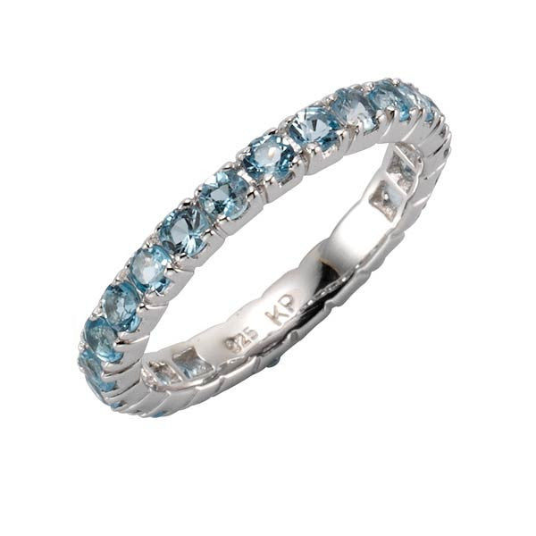 Ring Mar Menor mit Blautopas - Sterlingsilber