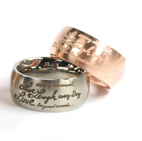 Ring Live, Laugh, Love - Edelstahl