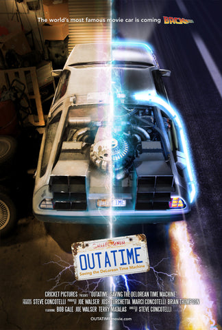 "OUTATIME MOVIE POSTER - SIGNED (24"" x 36"")"