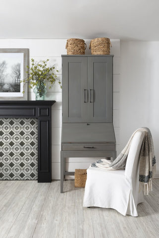 Gotham Gray milk paint by Fusion