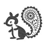 Pasha the Paisley Squirrel Stencil