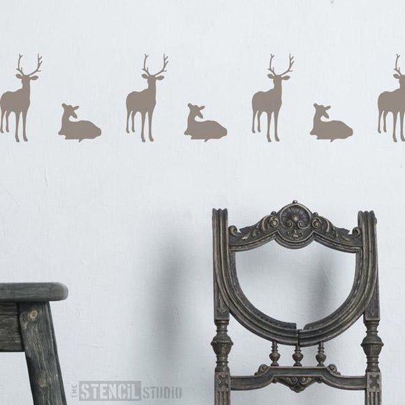 Deer and Fawn Stencil