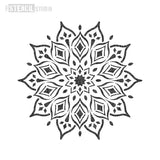 Rohan Mandala Indian Motif Stencil - Half Design