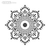 Eva Mandala Indian Motif Stencil - Half Design