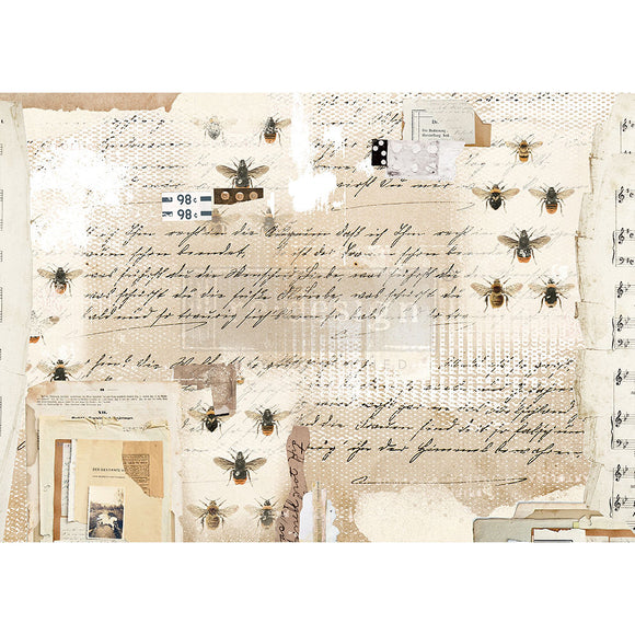 Mysterious Notes - Decoupage Rice Paper