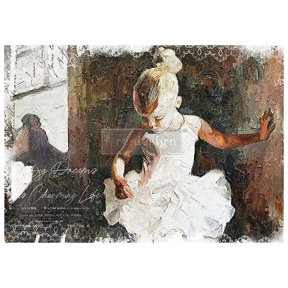 Dancer - Decoupage Tissue Paper A1