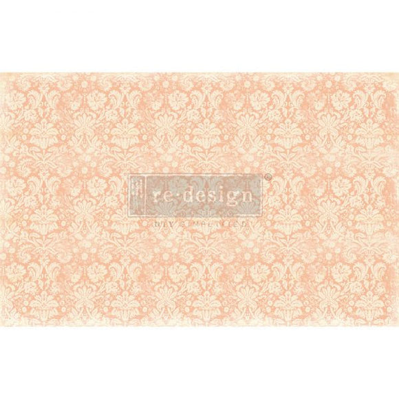 Peach Damask - Decoupage Tissue Paper