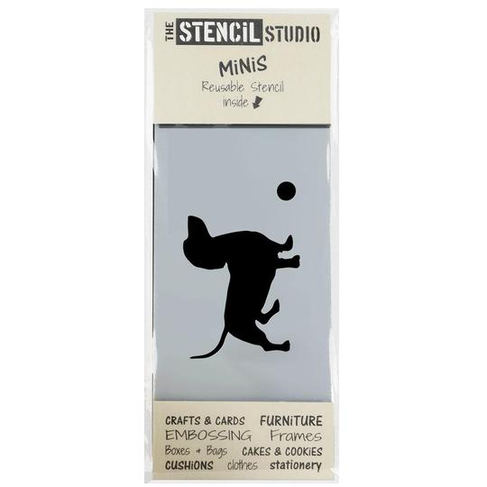 Stencil MiNiS - Dachshund Dog & Ball