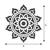 Sunray Mandala Indian Motif Stencil