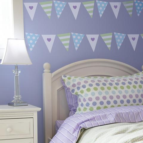 Bunting for Girls Stencil
